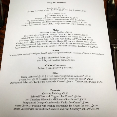 The Hinds Head Bray England One Michelin Star United Kingdom Great Britain Heston Blumenthal Pub Lunch Menu A la Carte