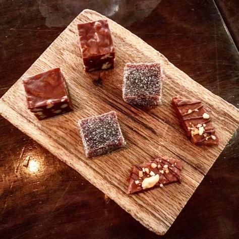 Mignardises Toffee Peanut Butter Chocolate Dessert FT33 Dallas Fine Dining Restaurant Tasting Menu