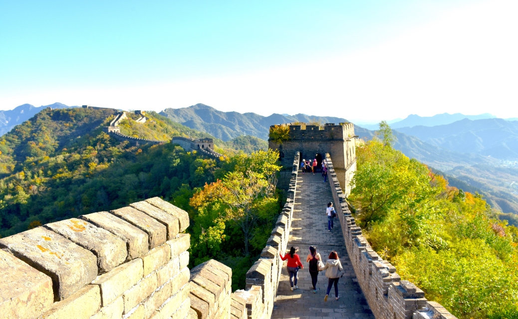 The Great Wall of China at Mutianyu Ancient Wonder World Heritage Site Hiking