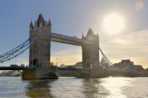 Tower Bridge London England United Kingdom Great Britain Thames River