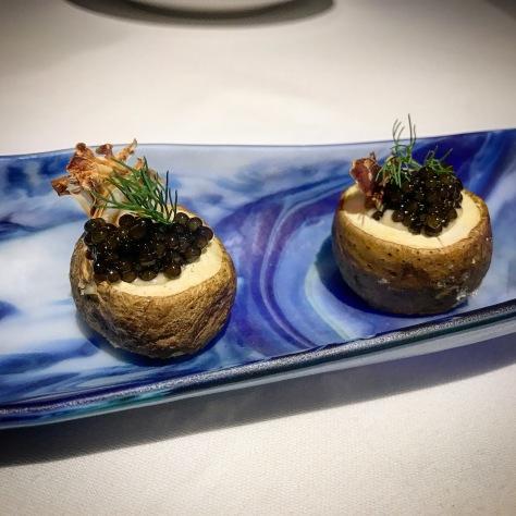 Aloo Gobi Caviar Tenth Course Dill Potato Gaggan Restaurant Bangkok Thailand Asia's 50 Best World's 50 Best Fine Dining Tasting Menu Potato Emoji Food Courses Progressive Indian Cuisine