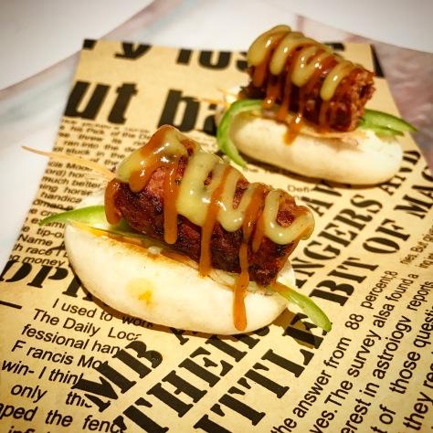 Lamb Kebab Hot Dog Twenty-First Course Gaggan Restaurant Bangkok Thailand Asia's 50 Best World's 50 Best Fine Dining Tasting Menu Hot Dog Emoji Food Courses Progressive Indian Cuisine