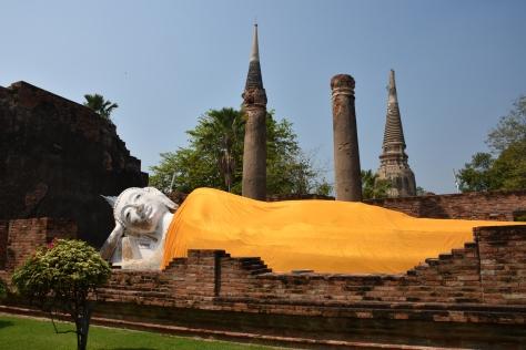 Reclining Buddha Wat Yai Chai Mongkhon Ayutthaya Ruins Thailand Temple Day Trip from Bangkok
