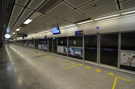 Bangkok MRT Subway Metro Si Lom Station Thailand