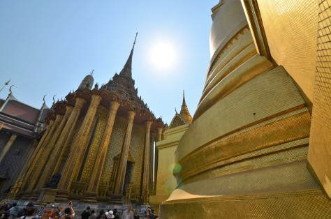 The Grand Palace Bangkok Thailand Temple Sunny Phra Si Rattana Chedi Golden