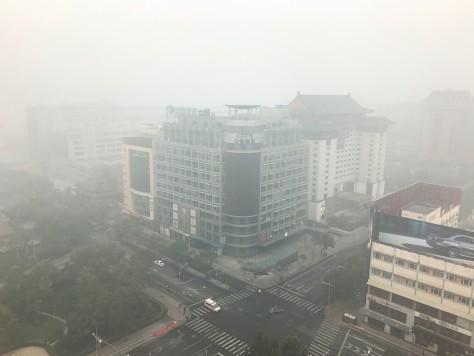 Beijing Air Quality Hazardous Air Quality China Regent Hotel View