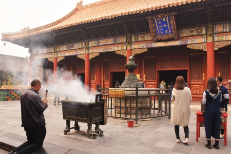 Lama Temple Beijing China Buddhism Buddhist Temple Incense Asia Tourist Attraction Travel