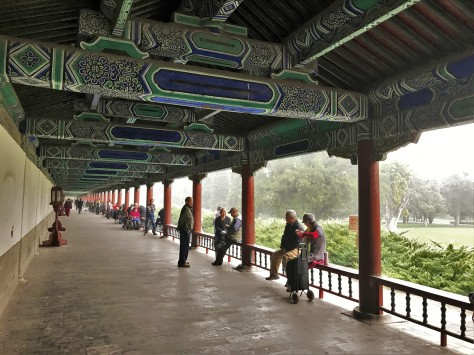 Temple of Heaven Park Long Walk Playing Cards Card Games Beijing China Asia Travel Local Life