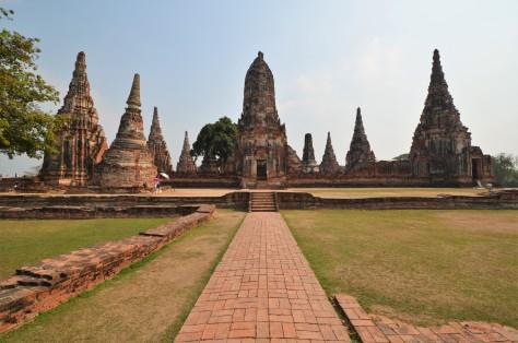 Wat Chaiwatthanaram Ruins Ayutthaya Thailand Buddhist Temple World Heritage Site Travel Tourist Attraction