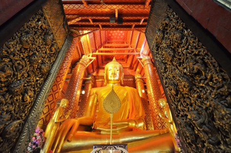 Wat Phanan Choeng Worawihan Buddhist Temple Ayutthaya Thailand Golden Buddha Travel World Heritage Site Tourist Attraction