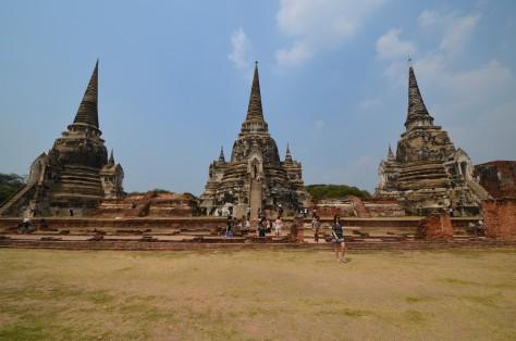 Wat Phra Si Sanphet Ruins Ayutthaya Thailand Travel World Heritage Site Buddhist Tourist Attraction