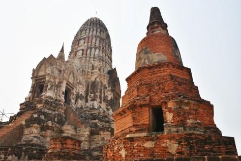 Wat Ratchaburana Ruins Ayutthaya Main Prang World Heritage Site Thailand Travel Tourist Attraction