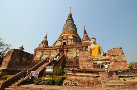 Wat Yai Chai Mongkhon Ayutthaya Ruins Buddhist Temple Thailand Kingdom of Siam Travel Tourist Attraction World Heritage Site