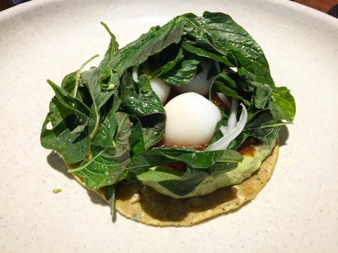 Wild Herb Open Papadzul Quail Egg Chiltomate Pujol 2.0 Mexico City Distrito Federal D.F. Restaurant Review World's 50 Best Latin America's 50 Best Restaurants Chef Enrique Olvera Fine Dining Lunch Tasting Menu Mexican Food Foodie Gastronomy